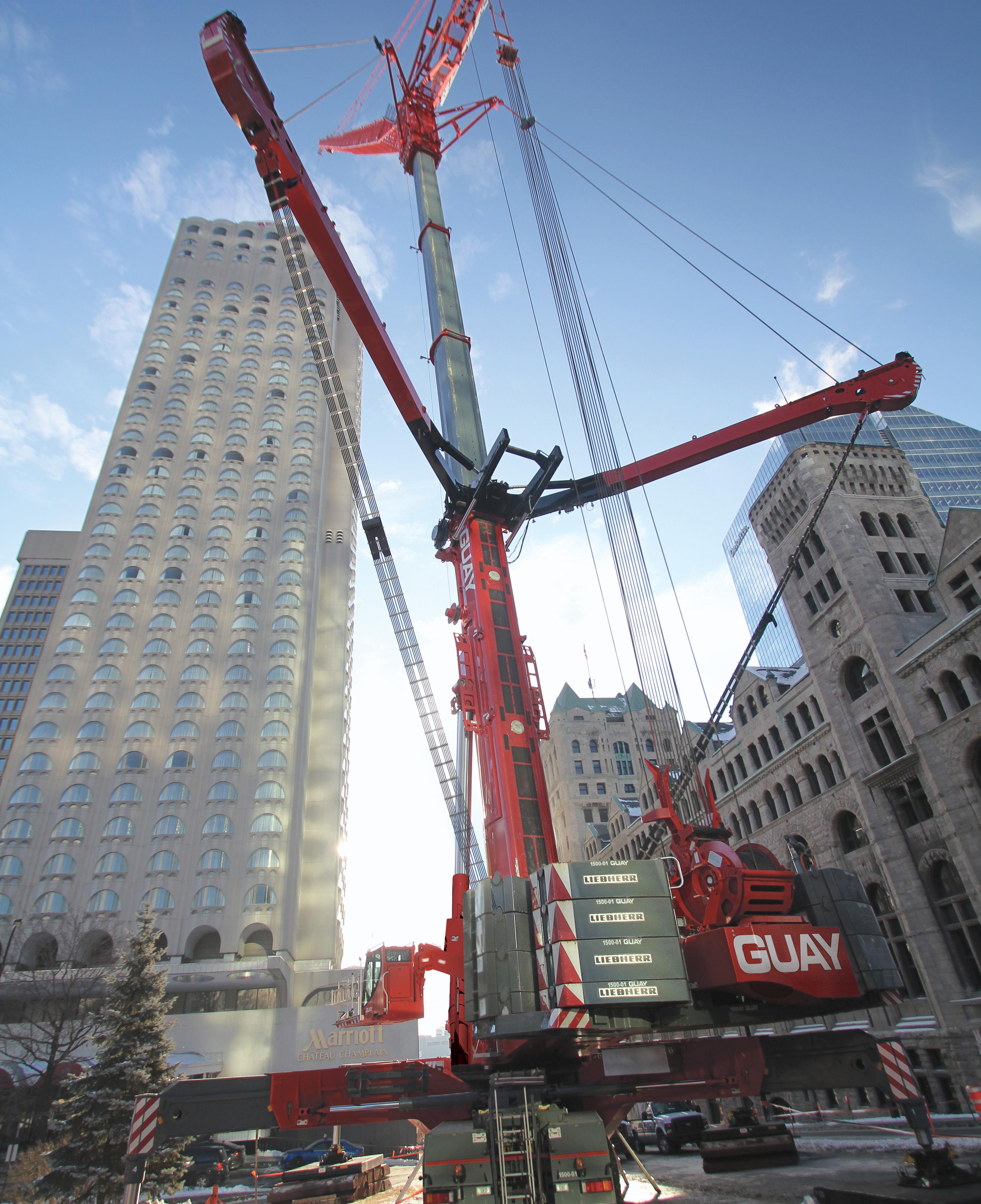Grue tout-terrain/All terrain crane- 1500 tonnes/tons, Liebherr